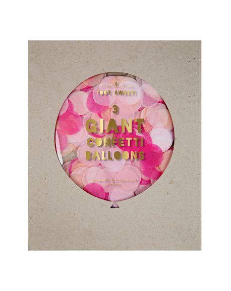 Meri Meri - Pink Giant Confetti Balloon Kit
