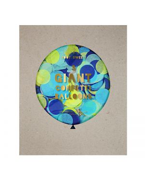 Meri Meri - Blue Giant Confetti Balloon Kit