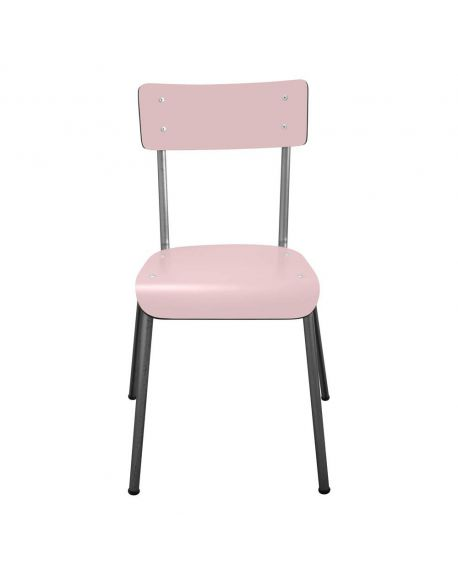 LES GAMBETTES SUZIE - Adult chair - Powder pink with natural legs