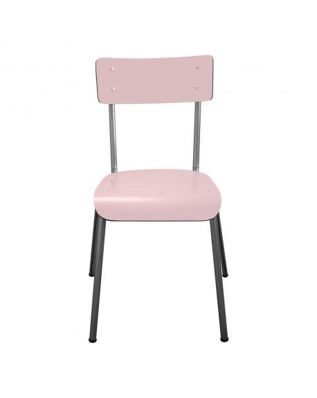 LES GAMBETTES SUZIE - Chaise adulte - Rose poudré avec pieds bruts