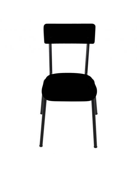 LES GAMBETTES SUZIE - Chaise adulte - Noir avec pieds noirs