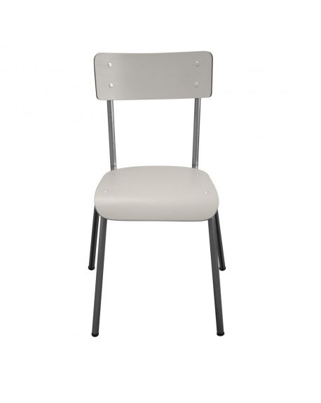 LES GAMBETTES SUZIE - Adult chair - Light grey with untreated feet