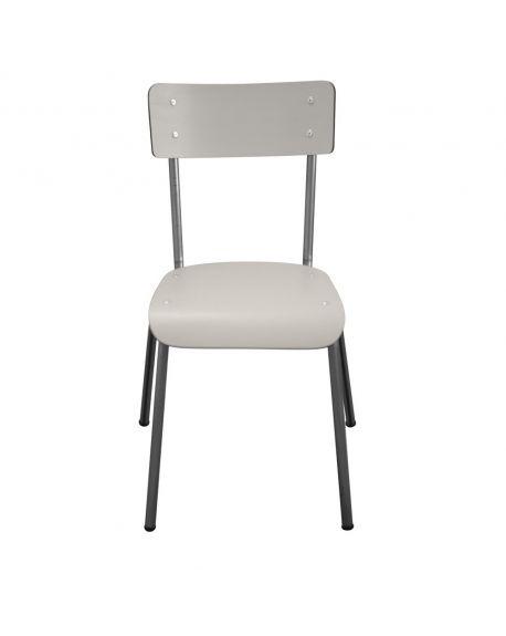 LES GAMBETTES SUZIE - Chaise adulte - Gris perle avec pieds bruts