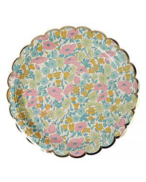 Meri Meri - Liberty Poppy & Daisy Large Plate x 8