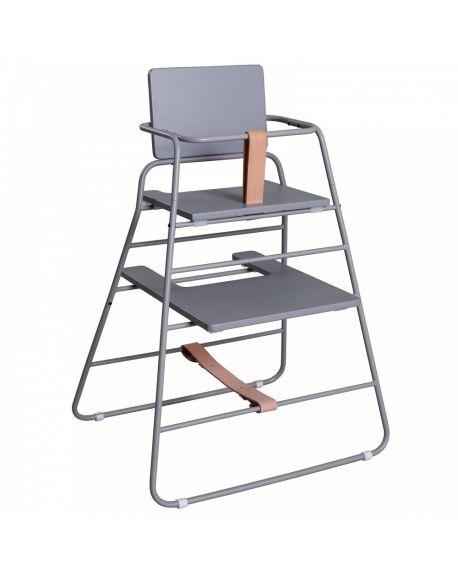 BUDTZBENDIX - Towerchair: Chaise haute + plateau - Gris