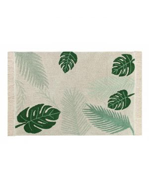 LORENA CANALS - Tapis coton Tropical Green - 140 x 200 cm
