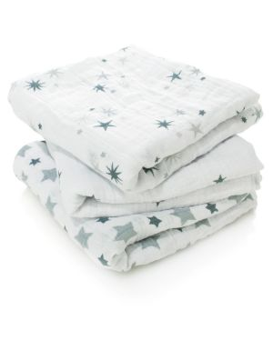 ADEN & ANAIS - Set of 3 swaddles - Night Sky