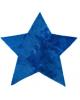 PILEPOIL - Tapis étoile en fausse fourrure - Bleu océan