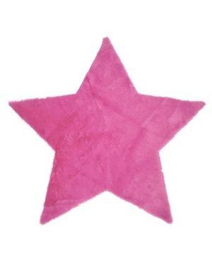 PILEPOIL - Tapis étoile en fausse fourrure - Fushia