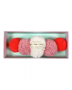 Meri Meri - Pompom Crown pink