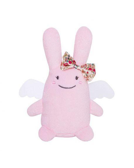 TROUSSELIER - Rattle Rabbit with angel wings - Ivory 12 cm