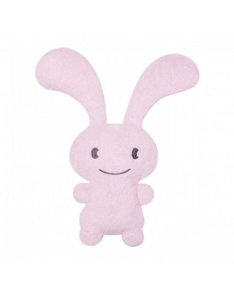 TROUSSELIER - Peluche /hochet lapin Funny Bunny Bleu - 24 cm