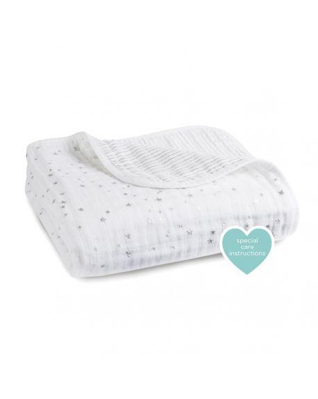 Aden & Anais - Dream Blanket lovely Print - Light Pink and White