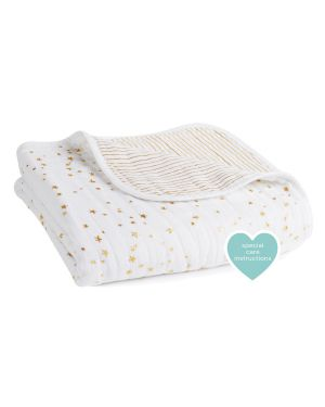 ADEN + ANAIS - Dream blanket - 120 x 120 cm - Mettalic - White and silver