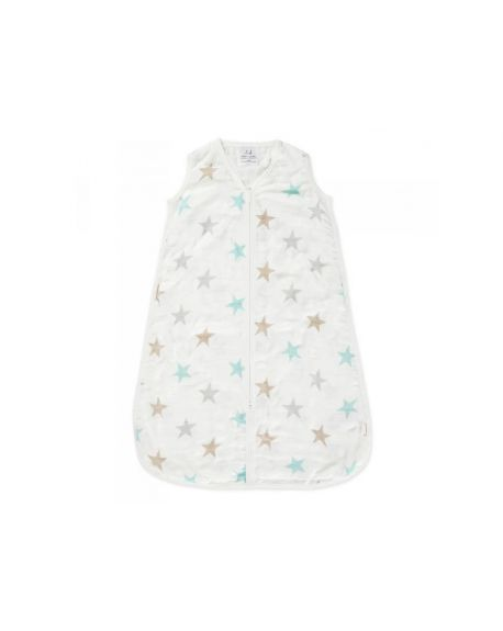 ADEN + ANAIS - Light sleeping bag Twinkle Grey Stars print - 18-24 Months