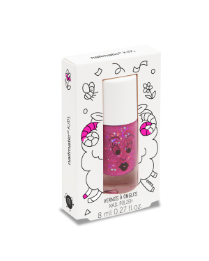 Nailmatic - Vernis à ongle à l'eau - Sheepy framboise transparent pailleté