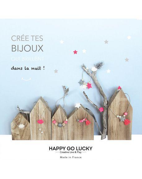 HAPPY GO LUCKY - Crée tes bijoux qui brillent dans la nuit !