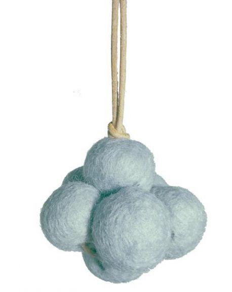 LOULLOU - Suspension nuage en laine - Bleu