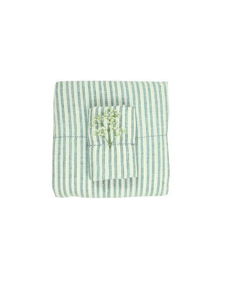 Lab - Tricolor striped linen Pillow case - 50x75 cm