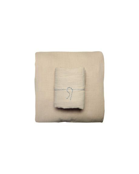 Lab - Taie d'oreiller en gaze de coton - Nude - 50x70 cm