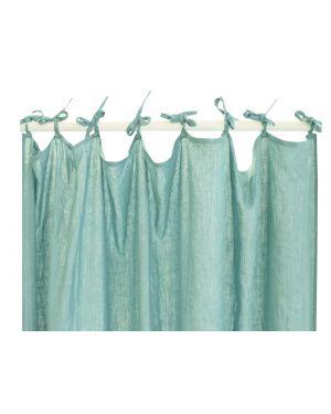 Lab - Rideaux en lin avec attaches - Vert d'eau - 220x280 cm