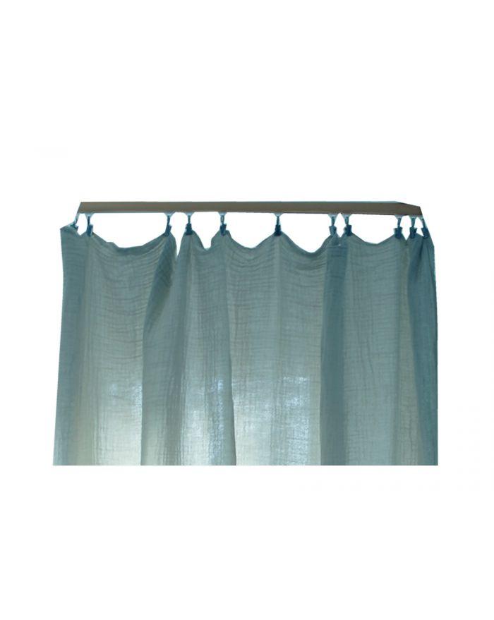 Lab - Rideaux en gaze de coton - Ciel - 220x280 cm décoration linge ...