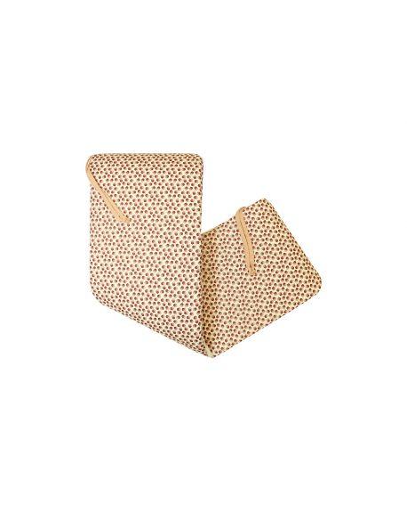 Lab La petite collection - Sand Cotton Cot Bumper Cover - 0-6 Months