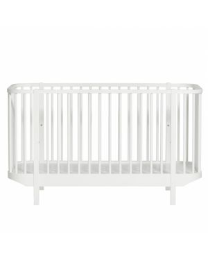 Oliver Furniture - Baby Wood Cot - White - 70x140 cm