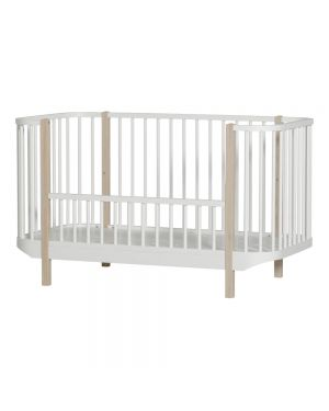 Oliver Furniture - Baby Wood Cot 70x140 cm - White/Oak