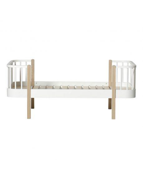 Oliver Furniture - Lit Junior - Blanc/Chêne - 90x160 cm