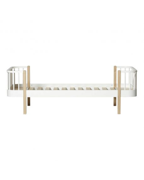 Oliver Furniture - Lit - Blanc/Chêne - 90x200 cm