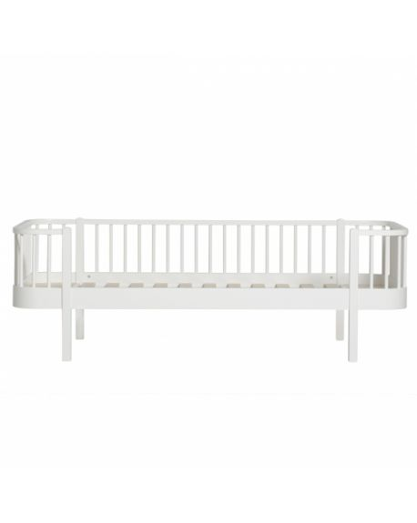 Oliver Furniture - Lit Banquette - Blanc - 90x200 cm