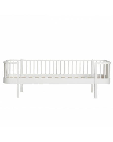 Oliver Furniture - Wood bed - White/Oak - 90x200 cm