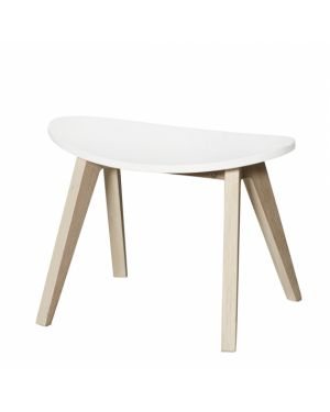 Oliver Furniture - Ping Pong Stool - White/Oak