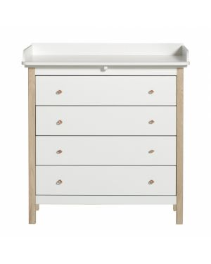 Oliver Furniture - Wood Nursery dresser- White/Oak