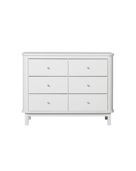 Oliver Furniture - Commode 6 tiroirs - Blanc