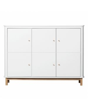 Oliver Furniture - Wood Nursery dresser 6 drawers - White/Oak