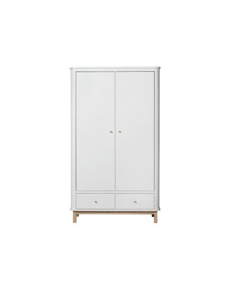 Oliver Furniture - Armoire 2 portes - Blanc/Chêne