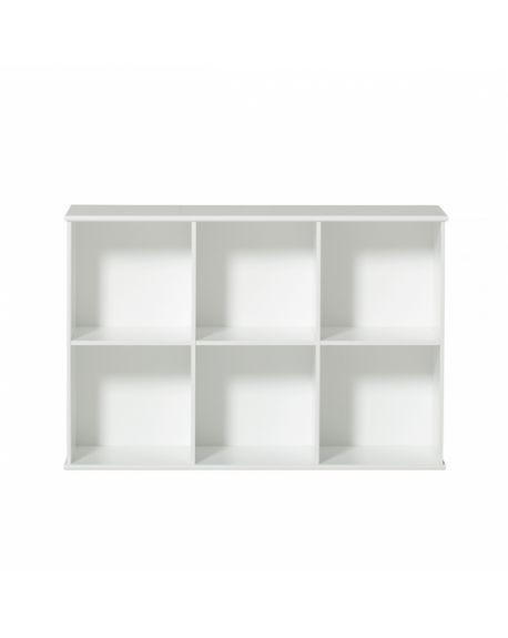 Oliver Furniture - Etagère 3x2 horizontale avec support, à suspendre