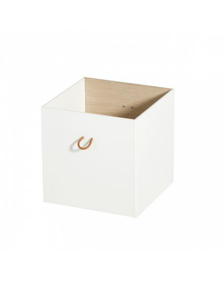 Oliver Furniture - Boîtes de rangement - Blanc/Chêne - Lot de 2 pièces