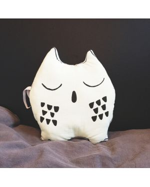 LE PETIT M - Coussin hibou phosphorescent by night