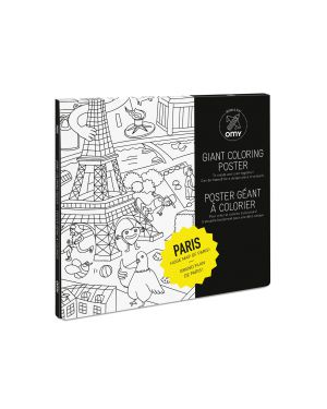 Omy - Poster à colorier - Paris - 100 x 70 cm