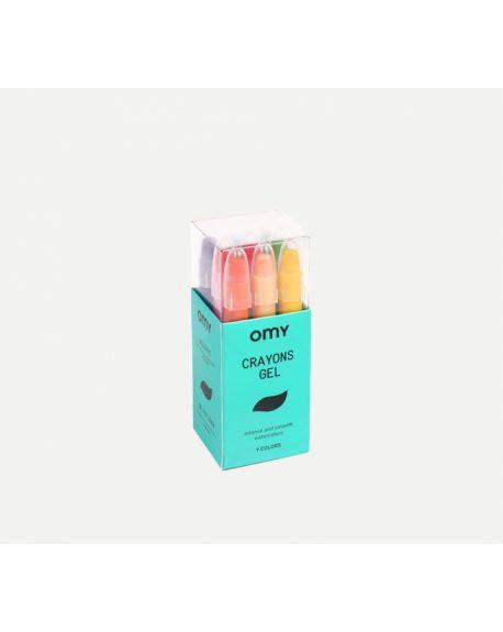 Omy - Boite de 16 crayons gel
