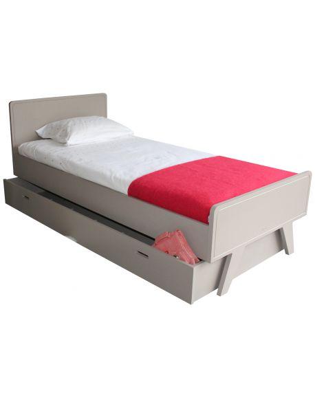 MATHY BY BOLS - Children bed 90x200 cm - Madavin Taupe