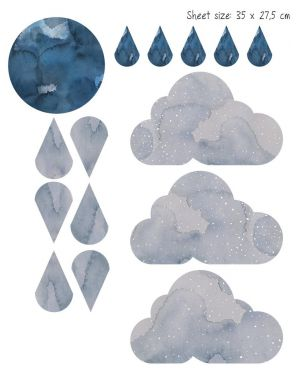 Fabelab - WallSticker Paper Dreamy Clouds - Nightfall