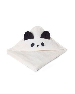 Liewood - Augusta Hooded Towel Panda - White