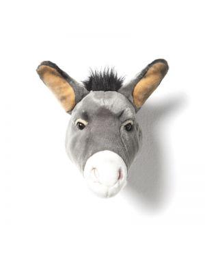 WILD & SOFT - Trophée en peluche - âne