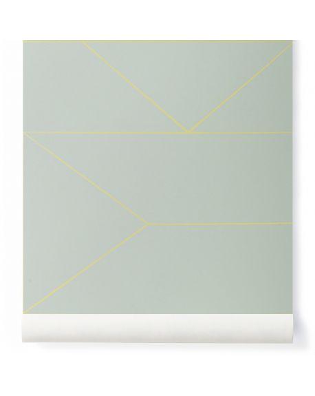 FERM LIVING - Grey Lines - Wallpaper