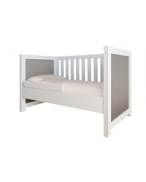 BOBO KIDS - ALICE Contemporary cot - White wood - Grey