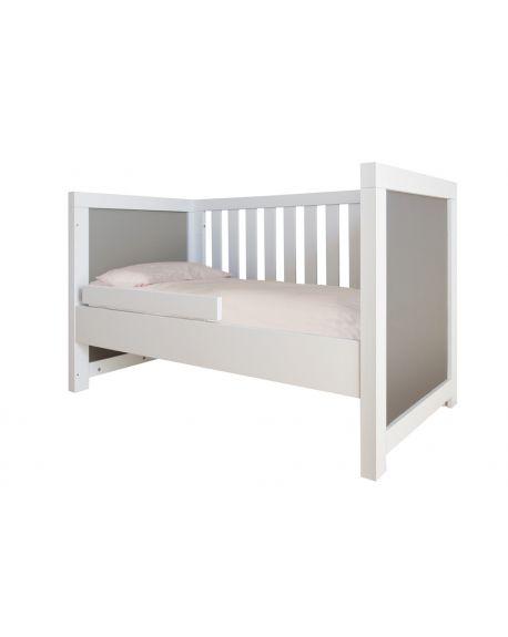 BOBO KIDS - ALICE Contemporary cot - White wood - Grey